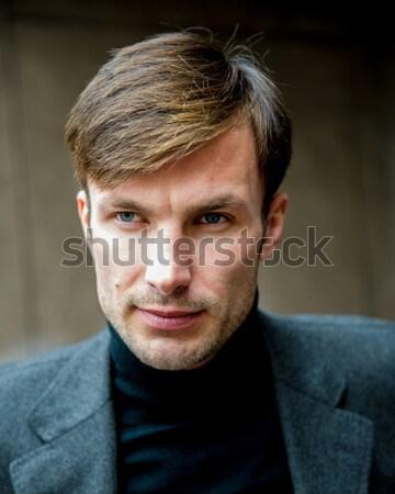Işadamı portre odaklı el Stok fotoğraf © Andriy-Solovyov