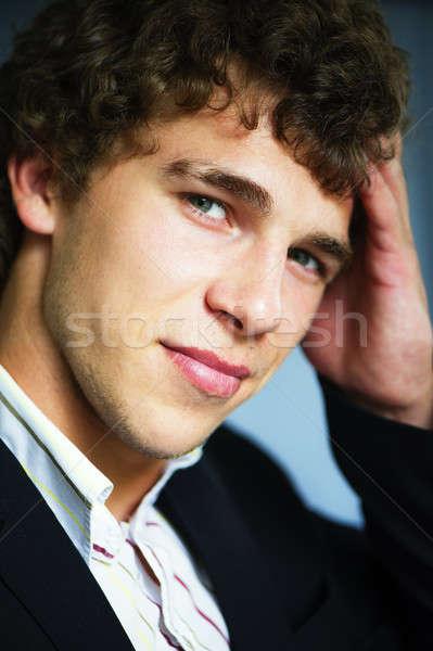 Retrato homem jovem vigoroso empresário Foto stock © Andriy-Solovyov