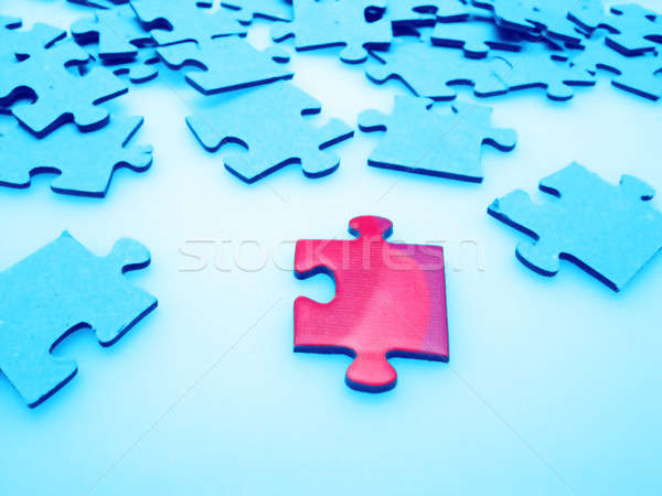 Jigsaw puzzle pieces Stock photo © Andriy-Solovyov
