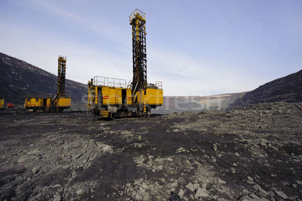 Open-cast mine, extraction of iron ore Stock photo © Andriy-Solovyov