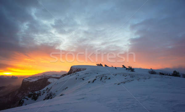 sunset in the mountains Stock photo © Andriy-Solovyov