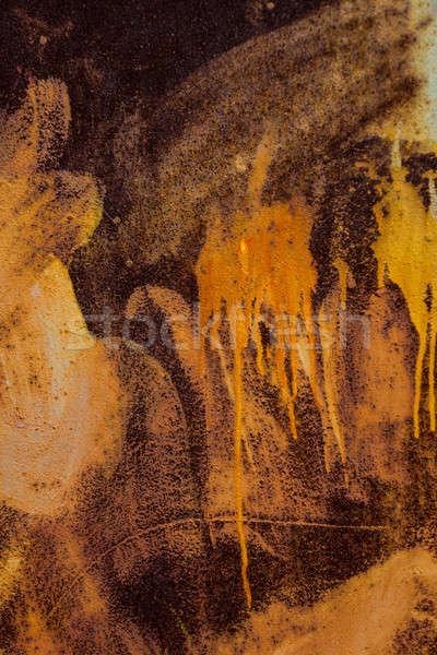 Velho metal folha coberto ferrugem Foto stock © Andriy-Solovyov