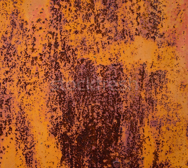 old sheet metal covered with rust and damaged paint Stock photo © Andriy-Solovyov