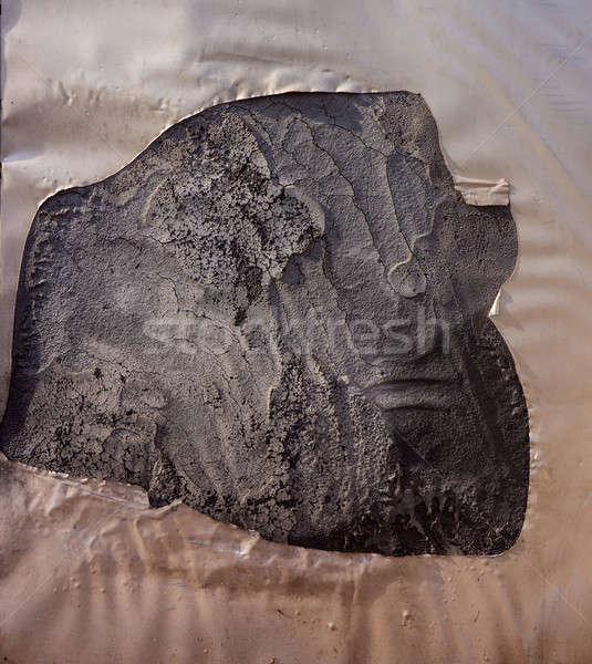 Yüzey çimento kapalı sıva kırık plastik Stok fotoğraf © Andriy-Solovyov