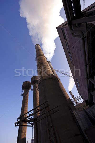 Fabriek extra uitputten business industrie plant Stockfoto © Andriy-Solovyov