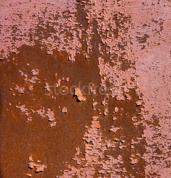 Vieux métal rouillée fiche couvert peinture Photo stock © Andriy-Solovyov