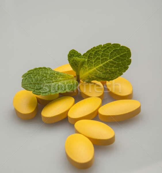yellow pills Stock photo © Andriy-Solovyov