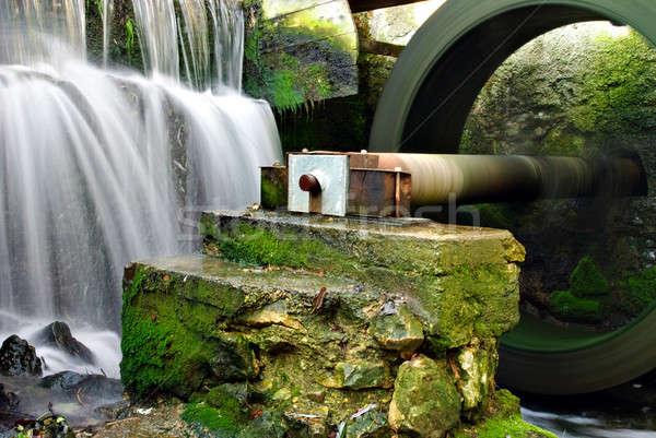 Part of water mill Stock photo © Anettphoto