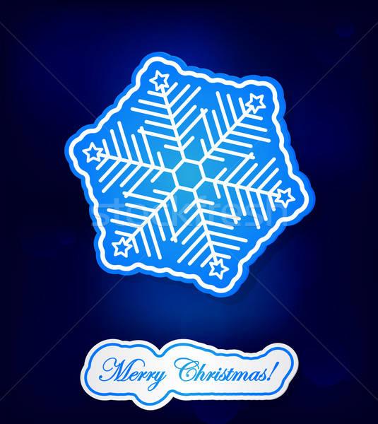 Blu grande fiocco di neve icona design Foto d'archivio © Anettphoto