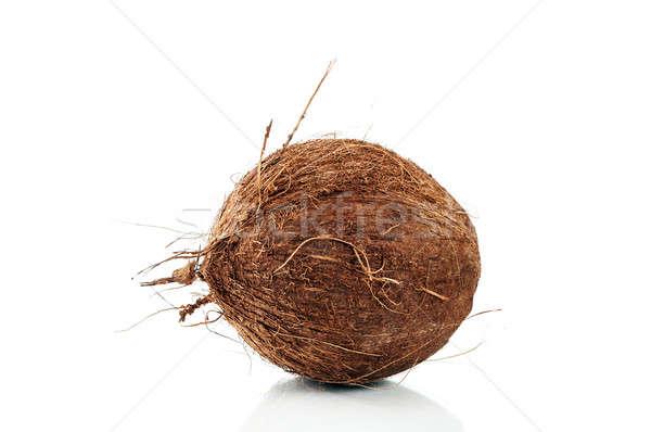 Coconut over white Stock photo © Anettphoto