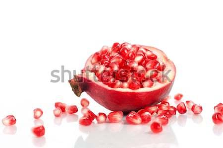 Gránátalma magok piros izolált fehér étel Stock fotó © Anettphoto
