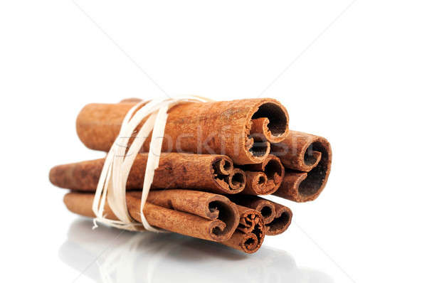 Stock photo: Tied cinnamon sticks