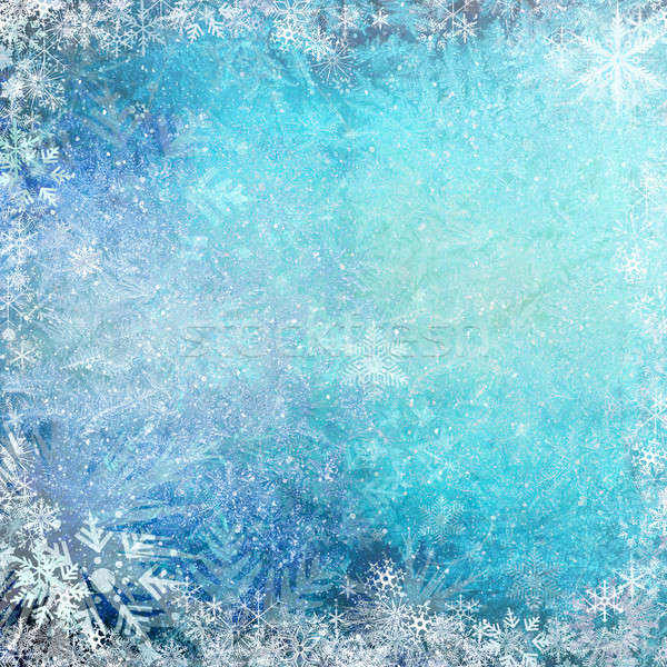 Blue Christmas grunge texture background Stock photo © Anettphoto
