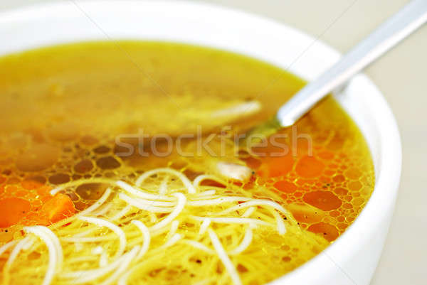 Chicken soup with noodles Stock photo © Anettphoto