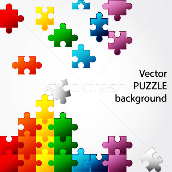Colorful Puzzle vector design Stock photo © Anettphoto