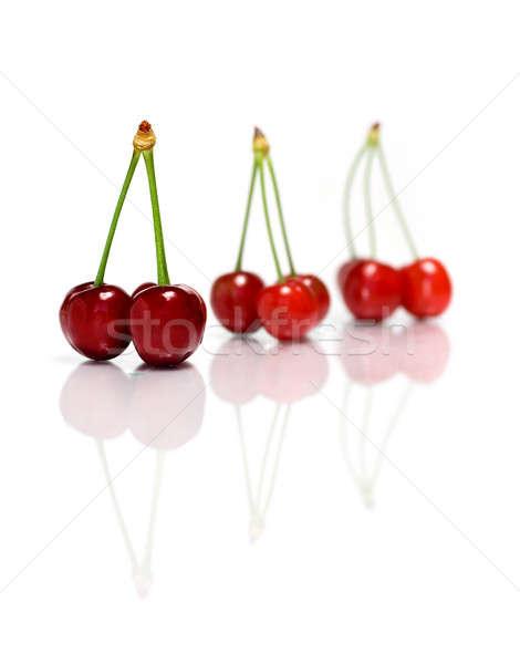 Piros érett anime fehér izolált gyümölcs Stock fotó © Anettphoto