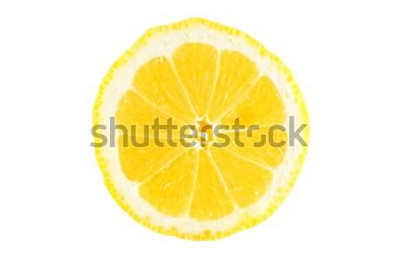 Citromszelet szelet citrom izolált fehér főzés Stock fotó © Anettphoto