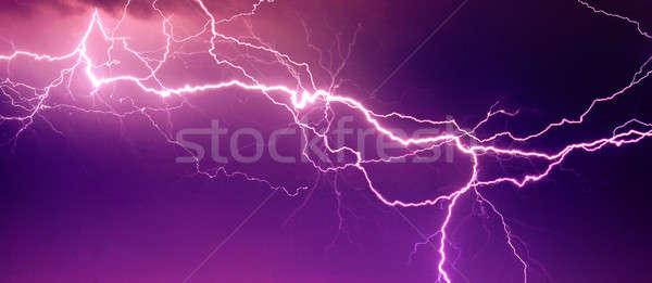 Nagy villám égbolt absztrakt fény eső Stock fotó © Anettphoto