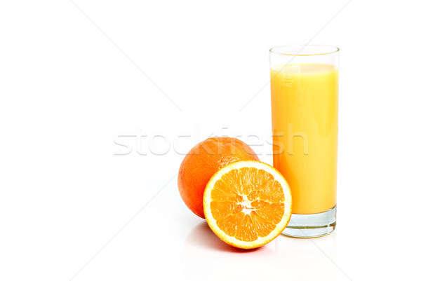 Succo d'arancia frutti isolato bianco alimentare vetro Foto d'archivio © Anettphoto