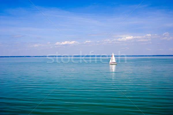Blu panorama vela lago cielo natura Foto d'archivio © Anettphoto