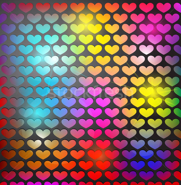 Abstract background with heart shaped grid Stock photo © Anettphoto
