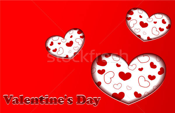 Stock photo: Red Valentine's day card