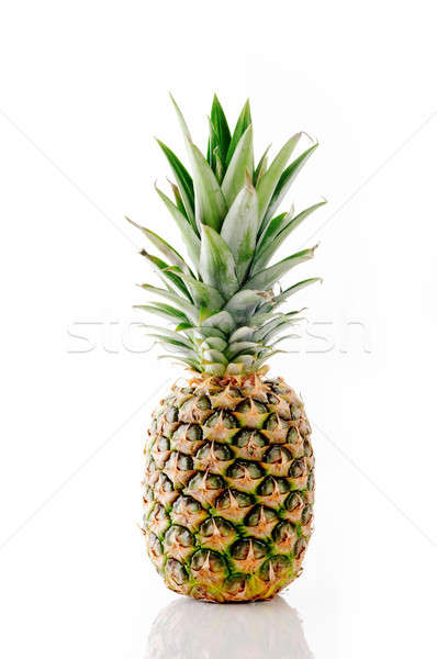 Whole pineapple on white Stock photo © Anettphoto