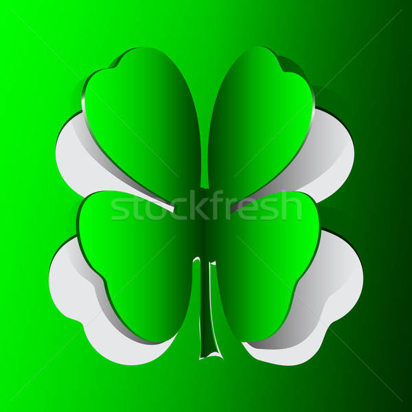 Green card with clover shape Stock photo © Anettphoto