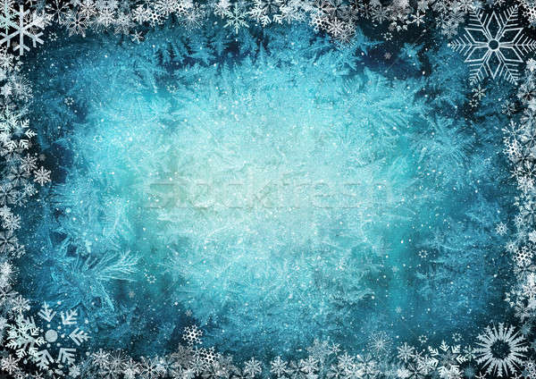 Blue winter background Stock photo © Anettphoto