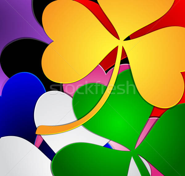 Colorful clover background Stock photo © Anettphoto