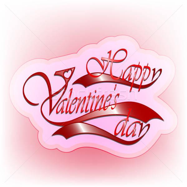 San valentino carta rosso carta amore Foto d'archivio © Anettphoto