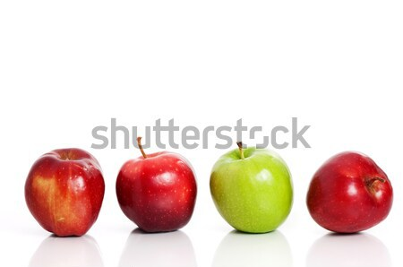 Four apples in a row Stock photo © Anettphoto