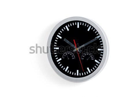 Grey and black wall clock Stock photo © Anettphoto