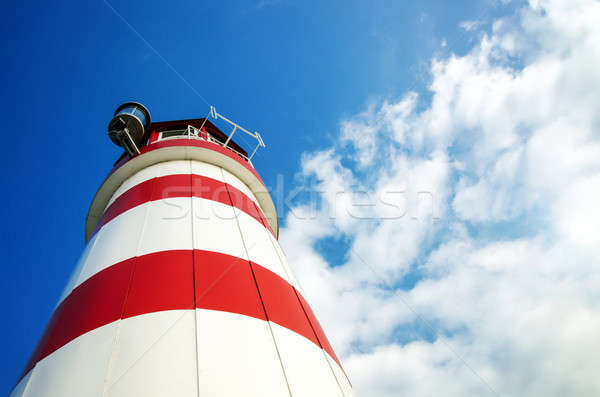 Lighthouse with blue sky Stock photo © Anettphoto