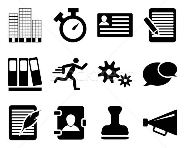 Office and bussines icon set Stock photo © angelp