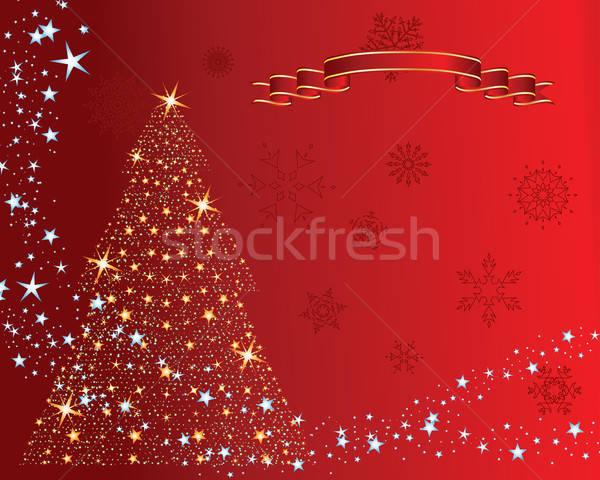 Stok fotoğraf: Noel · ağacı · Noel · yılbaşı · sanat · kış · kırmızı