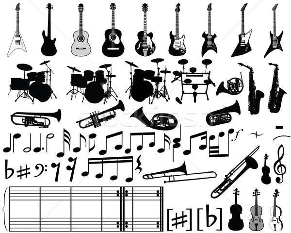 musical elements Stock photo © angelp