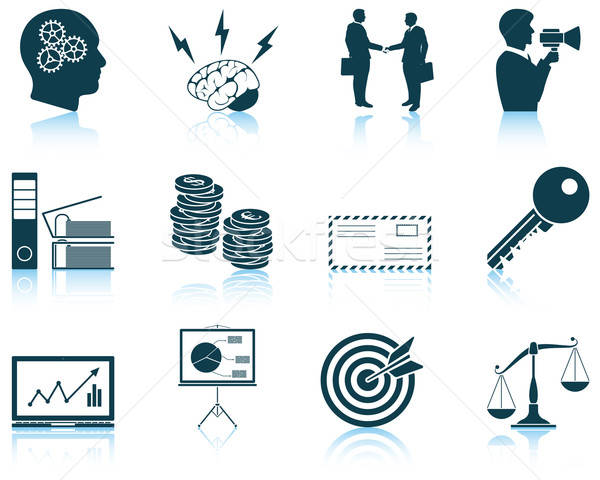 Set of business icons Stock photo © angelp