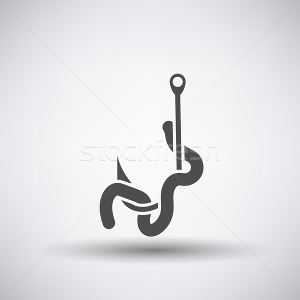 Worm on Hook  Icon  Stock photo © angelp