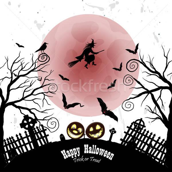 Halloween cartão feliz elegante projeto coruja Foto stock © angelp