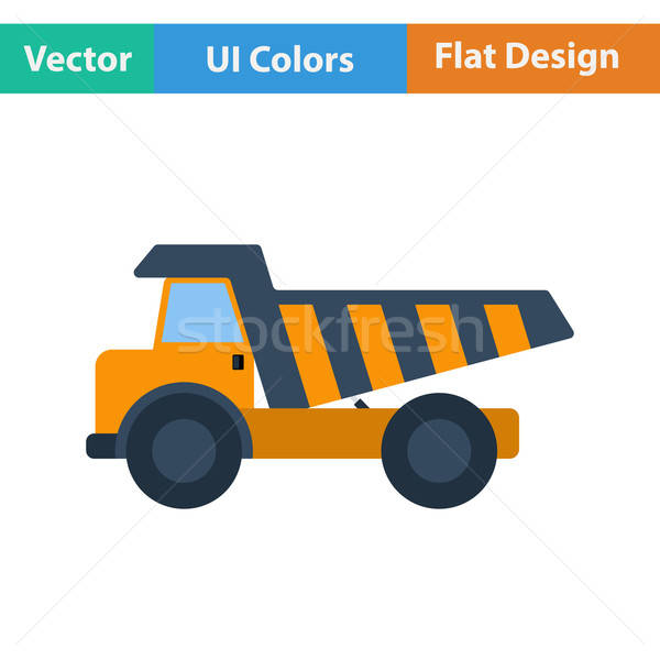 Flat design icon of tipper  Stock photo © angelp
