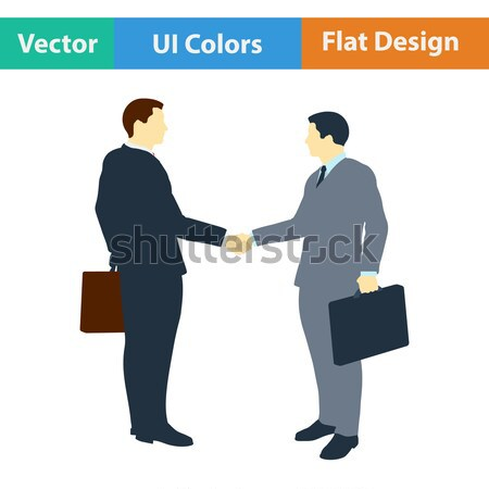 Meeting businessmen icon Stock photo © angelp
