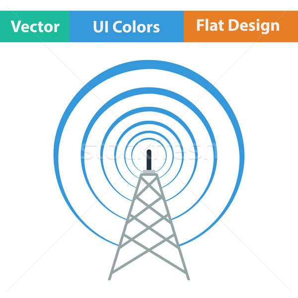 Radio antenna icon Stock photo © angelp