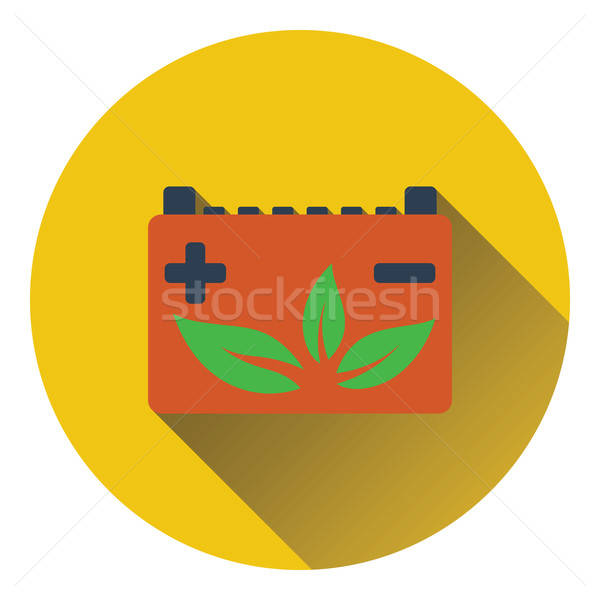 Car battery with leaf icon Stock photo © angelp