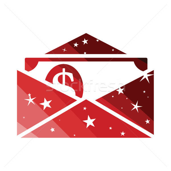 Birthday gift envelop icon with money   Stock photo © angelp