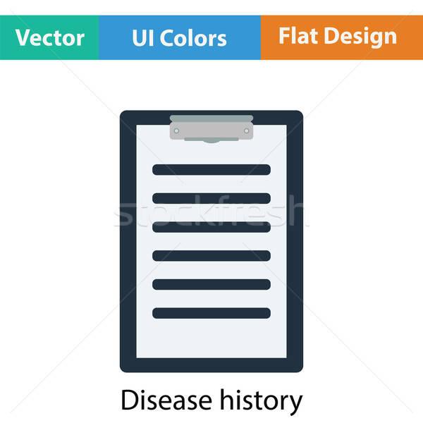 Ziekte geschiedenis icon kleur ontwerp gezondheid Stockfoto © angelp