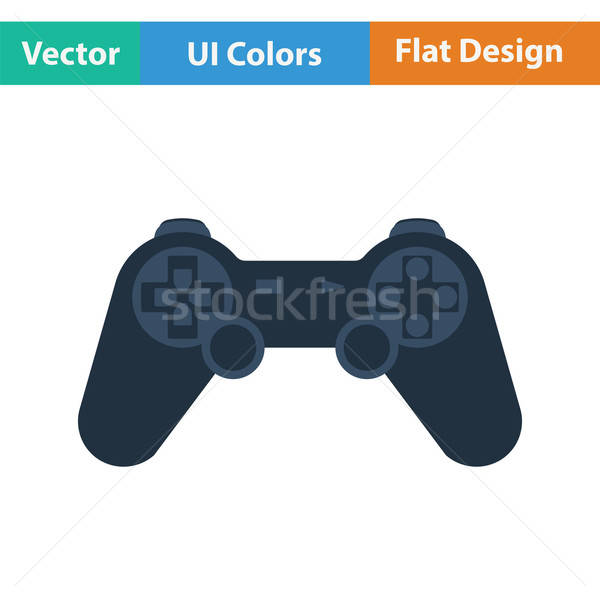 геймпад икона цвета дизайна компьютер технологий Сток-фото © angelp
