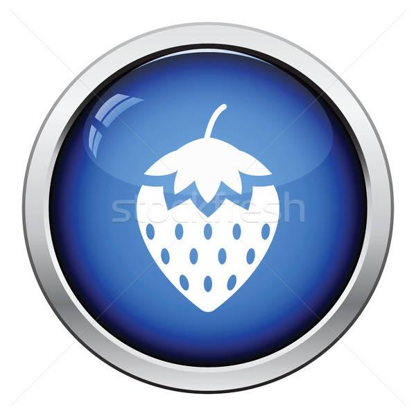 çilek ikon parlak düğme dizayn seks Stok fotoğraf © angelp