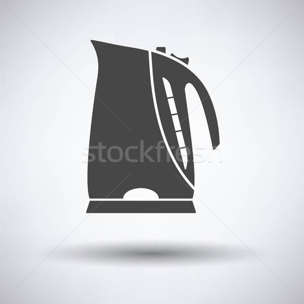 Cucina elettrici bollitore icona grigio design Foto d'archivio © angelp