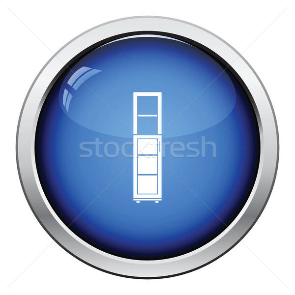 Smal kabinet icon glanzend knop ontwerp Stockfoto © angelp